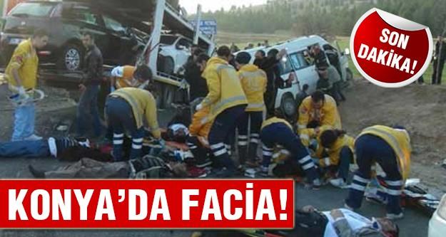 Konya'da feci kaza:9 ölü