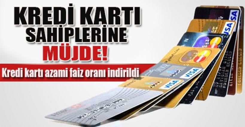Kredi kartı azami faiz oranı indirildi