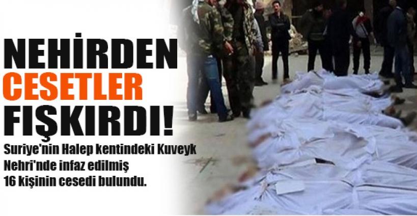 Kuveyk nehrinde 16 ceset bulundu