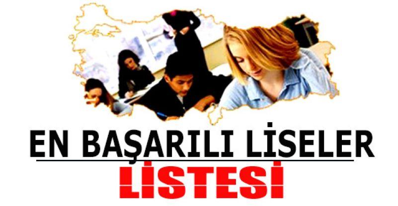 LYS 2013'te en başarılı liseler listesi