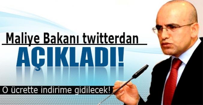 Maliye Bakanı twitterdan açıkladı.