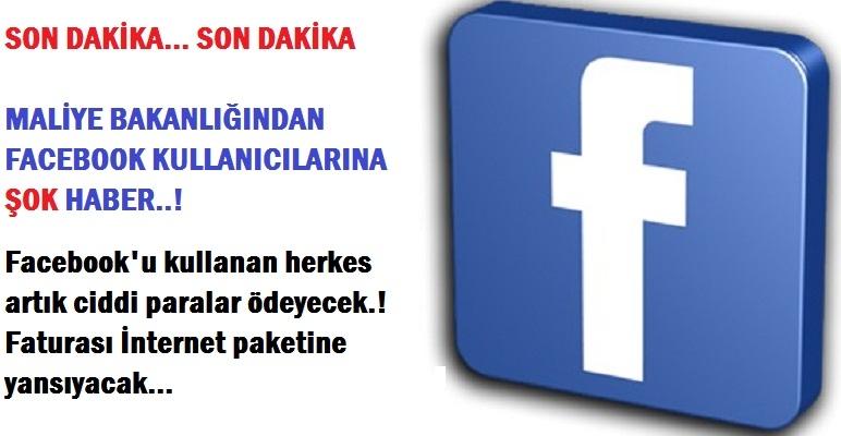 Maliye'den Facebook kullanıcılarına vergi şoku!
