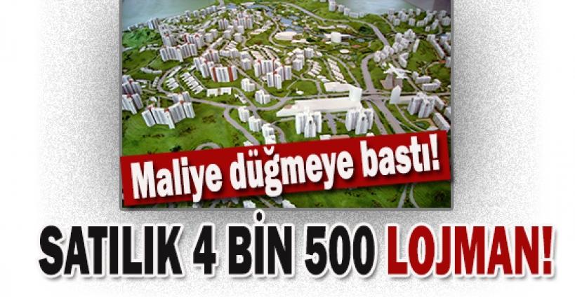 Maliye'den satılık 4 bin 500 lojman