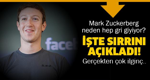 Mark Zuckerberg neden hep gri giyiyor? Meğerse..