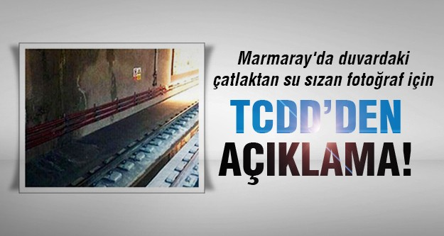 Marmaray'da çatlak mı var?