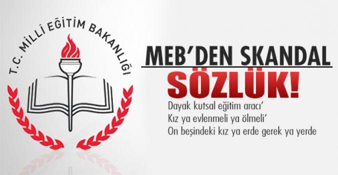 MEB'den skandal sözlük