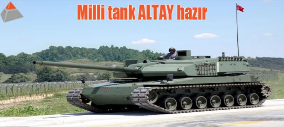 Milli tank ALTAY hazır