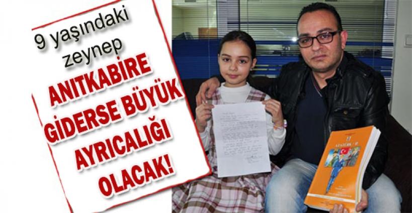 Minik Zeynep, Ata'nın kabrini görecek