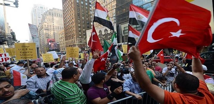Mısır'daki katliam New York'ta protesto edildi...