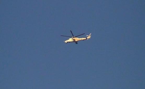 Muhaliflerin askerihelikopter düşürdüğü iddiası