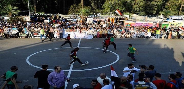Nahda Meydanı'nda kupa mücadelesi