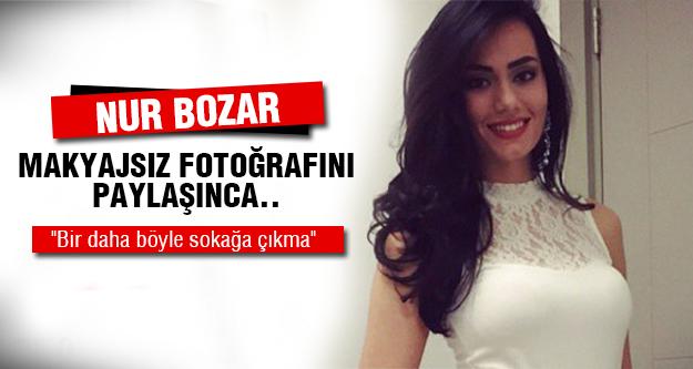 Nur Bozar İlk kez makyajsız!
