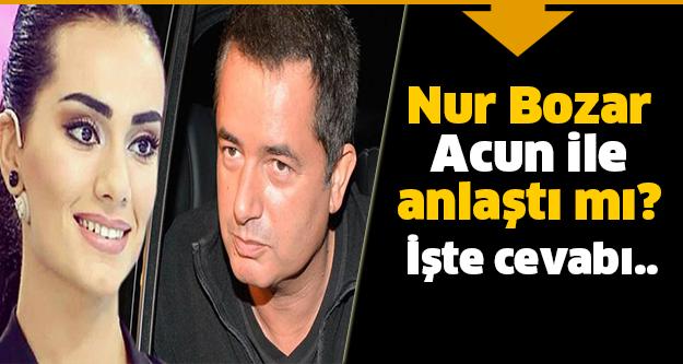 Nur Bozar o iddiaları cevapladı!