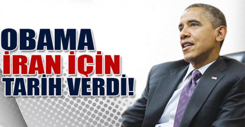 Obama, İran için tarih verdi