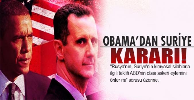 Obama'dan kritik Suriye açıklaması!