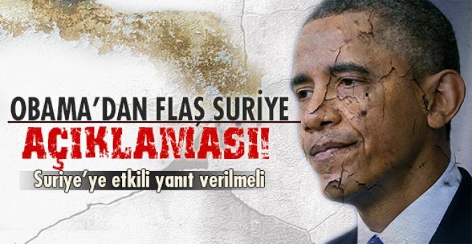 Obama'dan Suriye'yle ilgili flaş açıklama!