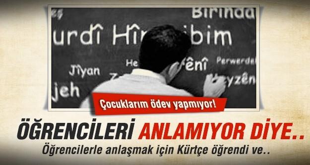 Öğrencilerle anlaşmak için Kürtçe öğrenen Türk öğretmene sürgün
