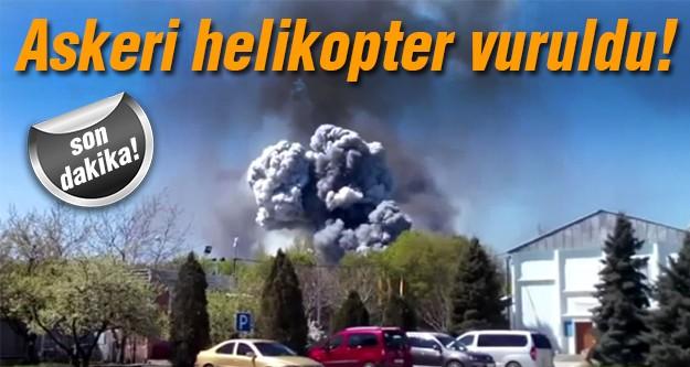 Orduya ait helikopter patlatıldı!