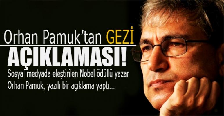Orhan Pamuk'tan gezi açıklaması