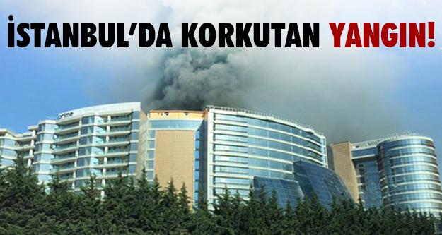 Otel inşaatında yangın!