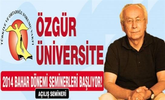 Özgür Üniversite başlıyor!