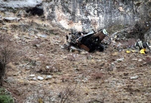 Peru'da helikopter düştü