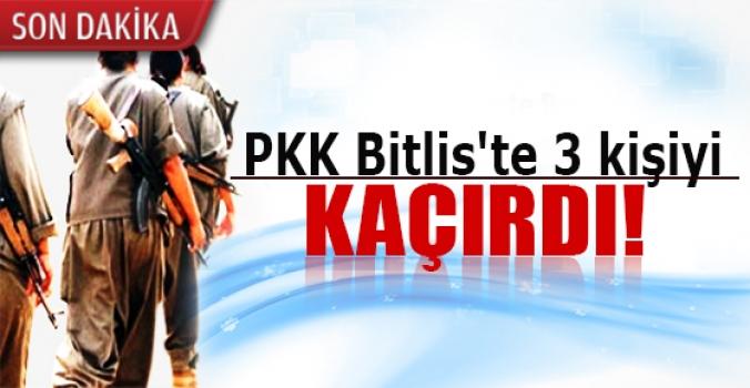 PKK Bitlis'te 3 kişiyi kaçırdı