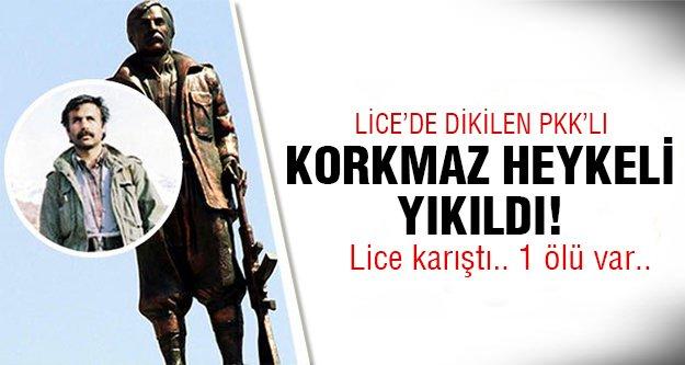 PKK heykeline operasyon! İşte son hali..