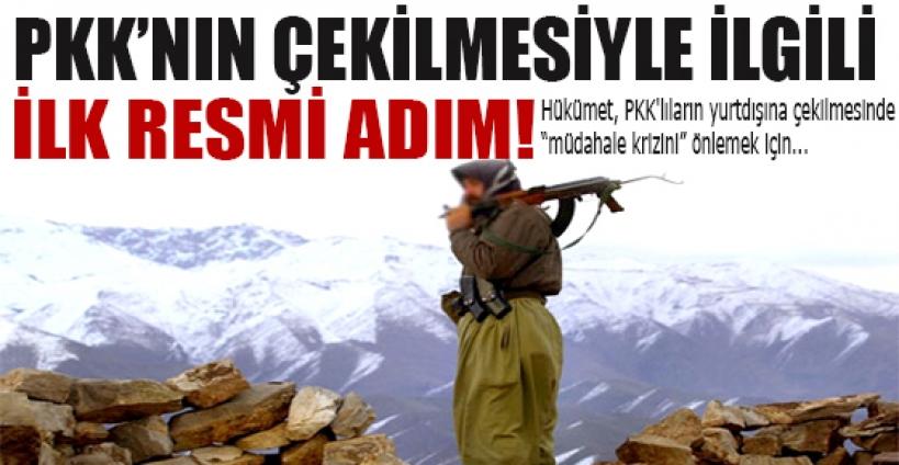 PKK'nın çekilmesiyle ilgili ilk resmi adım