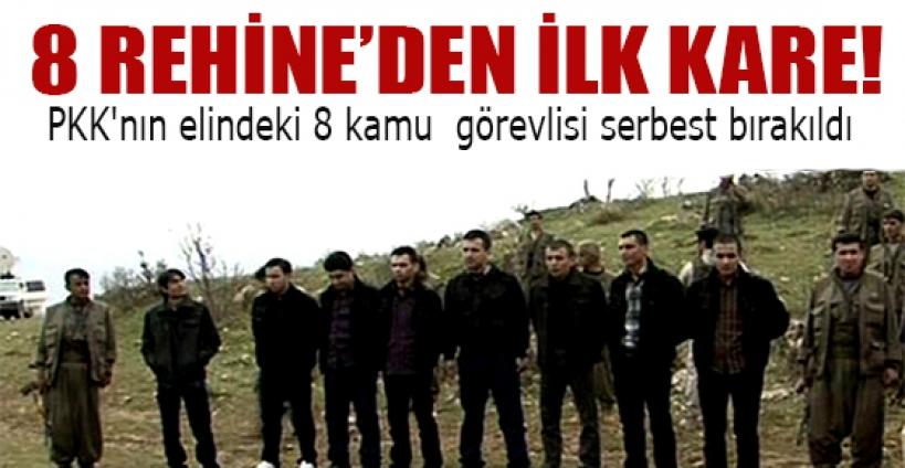 PKK'nın elindeki 8 kamu  görevlisi serbest bırakıldı