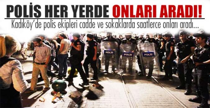 Polis, Kadıköy'de eylemci aradı