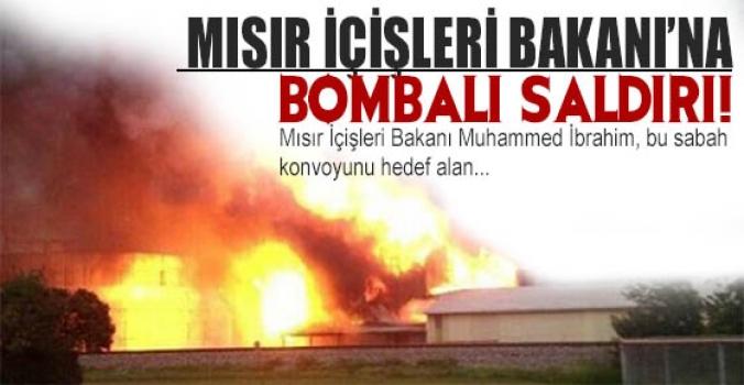 Sabah saatlerinde Mısır İçişleri Bakanı'na bombalı saldırı düzenlendi...