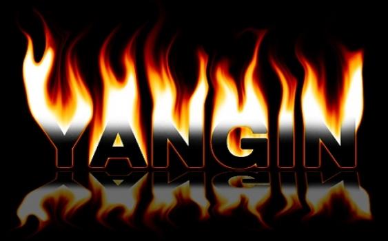 Sakarya'da atölye ve samanlık yangını