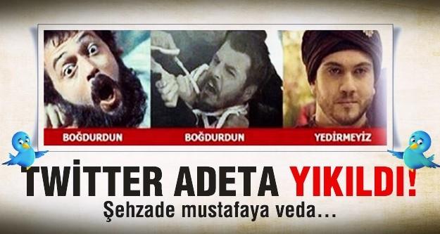 Şehzade Mustafa'nın ölümü Twitter'ı salladı