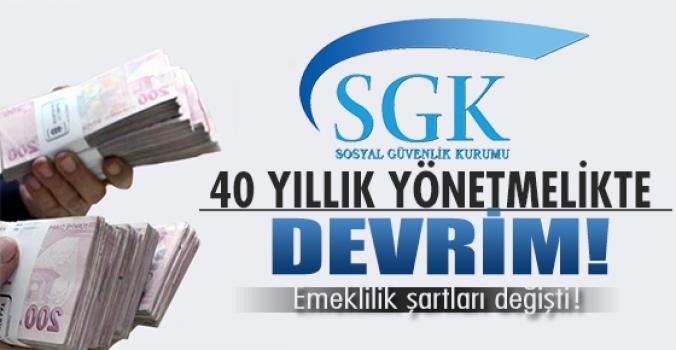 SGK'dan yönetmelik devrimi...