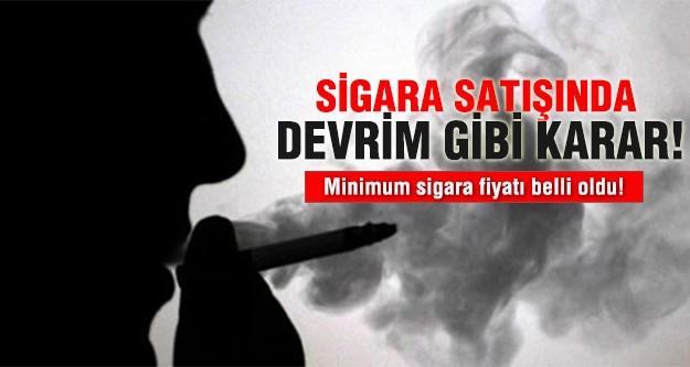 Sigara satışında devrim gibi karar