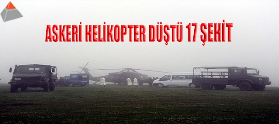 Siirt'te Askeri Helikopter Düştü:17 Şehit