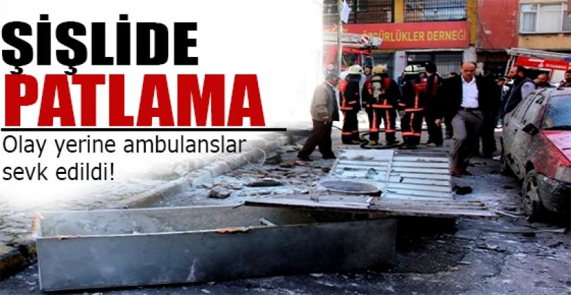 Şişli'de işyerinde patlama