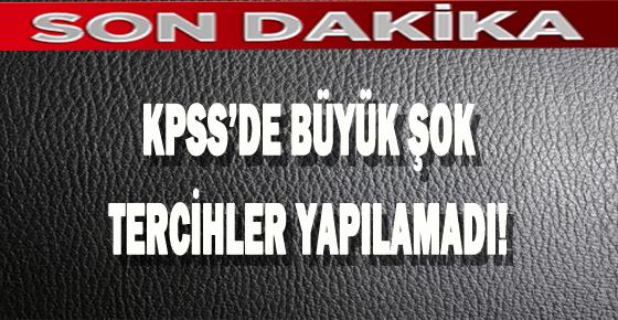 SİTE ÇÖKTÜ TERCİHLER YAPILAMADI!