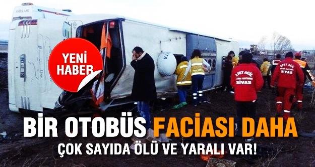 Sivas'ta otobüs kazası: 9 ölü