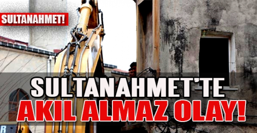 Sultanahmet'te tuvaleti çöken bina tahliye edildi