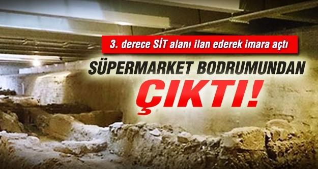 Süpermarket bodrumunda antik kent!