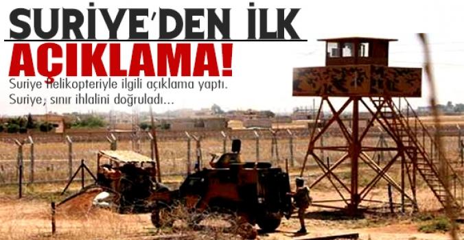 Suriye'den sınır ihlali açıklaması!
