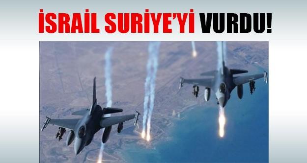 Suriye'ye İsrail saldırısı!