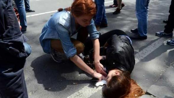 Taksim'de kaza!