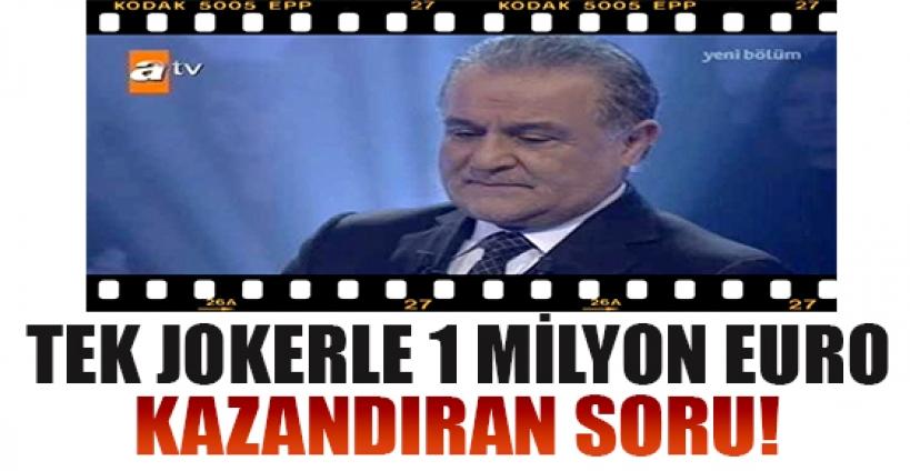 Tek jokerle 1 milyon euro kazanan yarışmacı