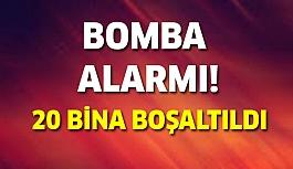 Son dakika: Bomba alarmı! 20 bina boşaltıldı