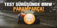 BMW i8 test sürüşünde paramparça!