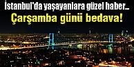 İstanbul'da çarşamba günü taksiler bedava!