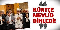 Kürtçe Mevlid programına katıldı!